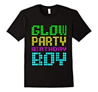 Glow Party Birthday Boy Party Gift Neon Retro Shirts Black