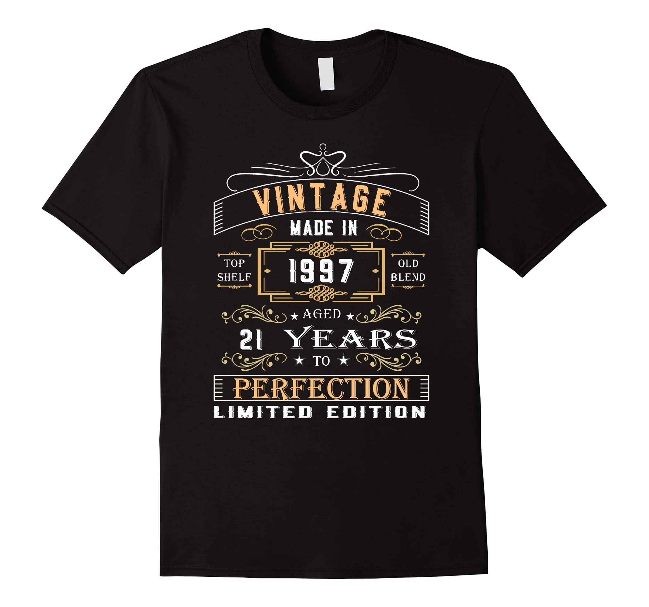 Vintage Age 21 Years 1997 Perfect 21st Birthday Gift T Shirt RT