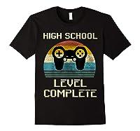 2019 High School Graduation Shirt Gamer Graduation Gifts-min Black