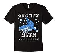 Grampy Shark Shirt Fathers Day Gift T-shirt Black