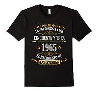 Birthday T Shirt Gift For Latino Born In 1965 Black