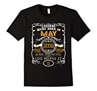 May 2008 11th Birthday Gift 11 Years Old For Shirts Black