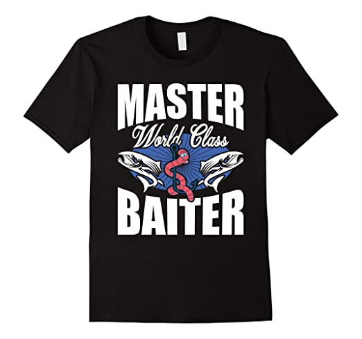 2ba55e9bd Amazon.com  MASTER Baiter - Funny Salt Water Fishing Gift Shirt for ...