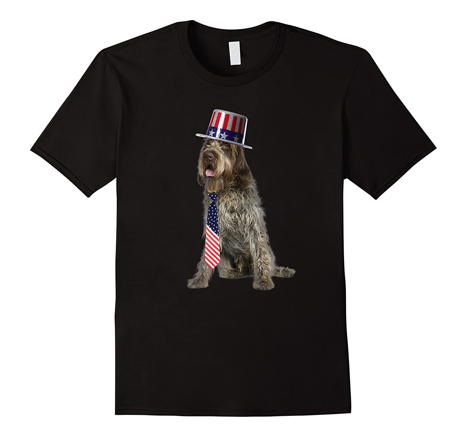 Wirehaired Pointing Griffon 4th Of July Dog In Top Hat Shirts