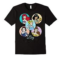 Princess Big Dreams Sparkle Character Bubbles Shirts Black