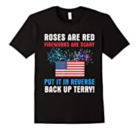 Put It In Reverse Back Up Terry Fireworks 4th Of July Shirts Black