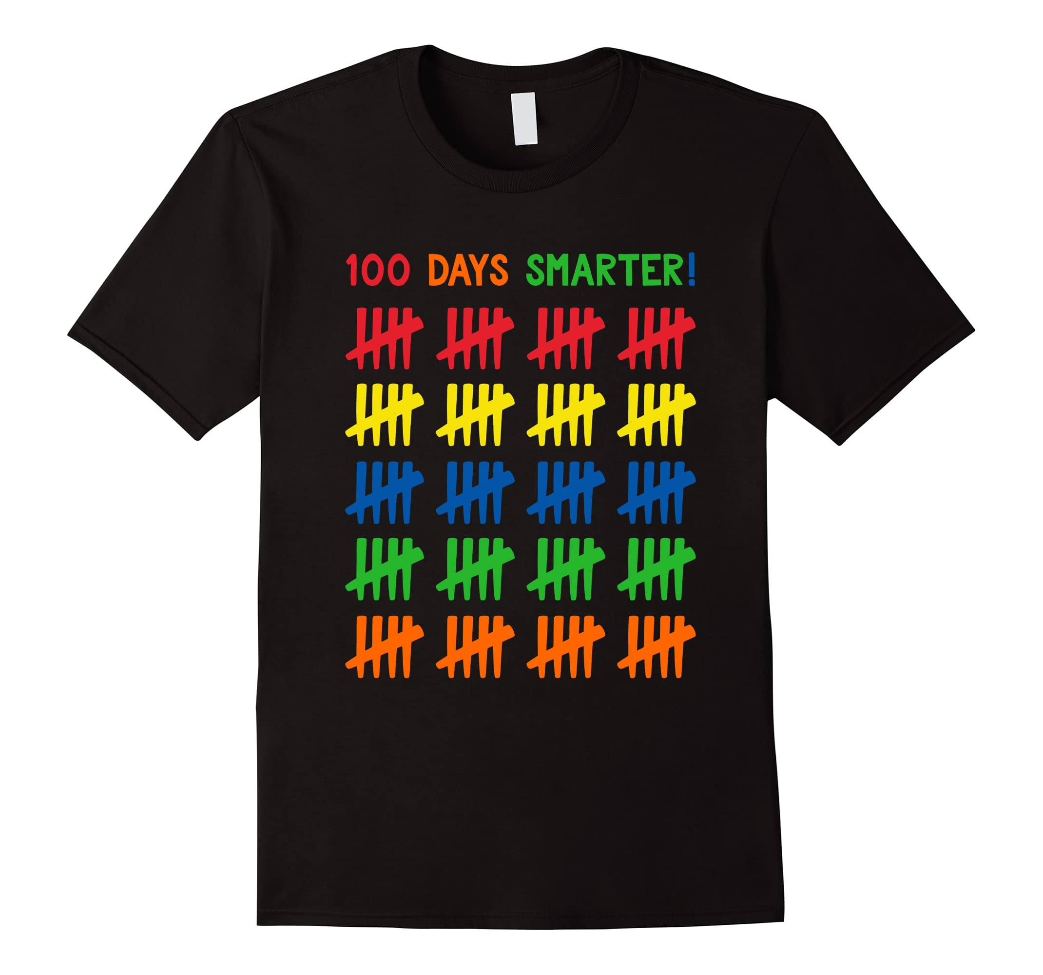 100 Days Of School Tally Marks Shirt Kids 100 Days Smarter-RT
