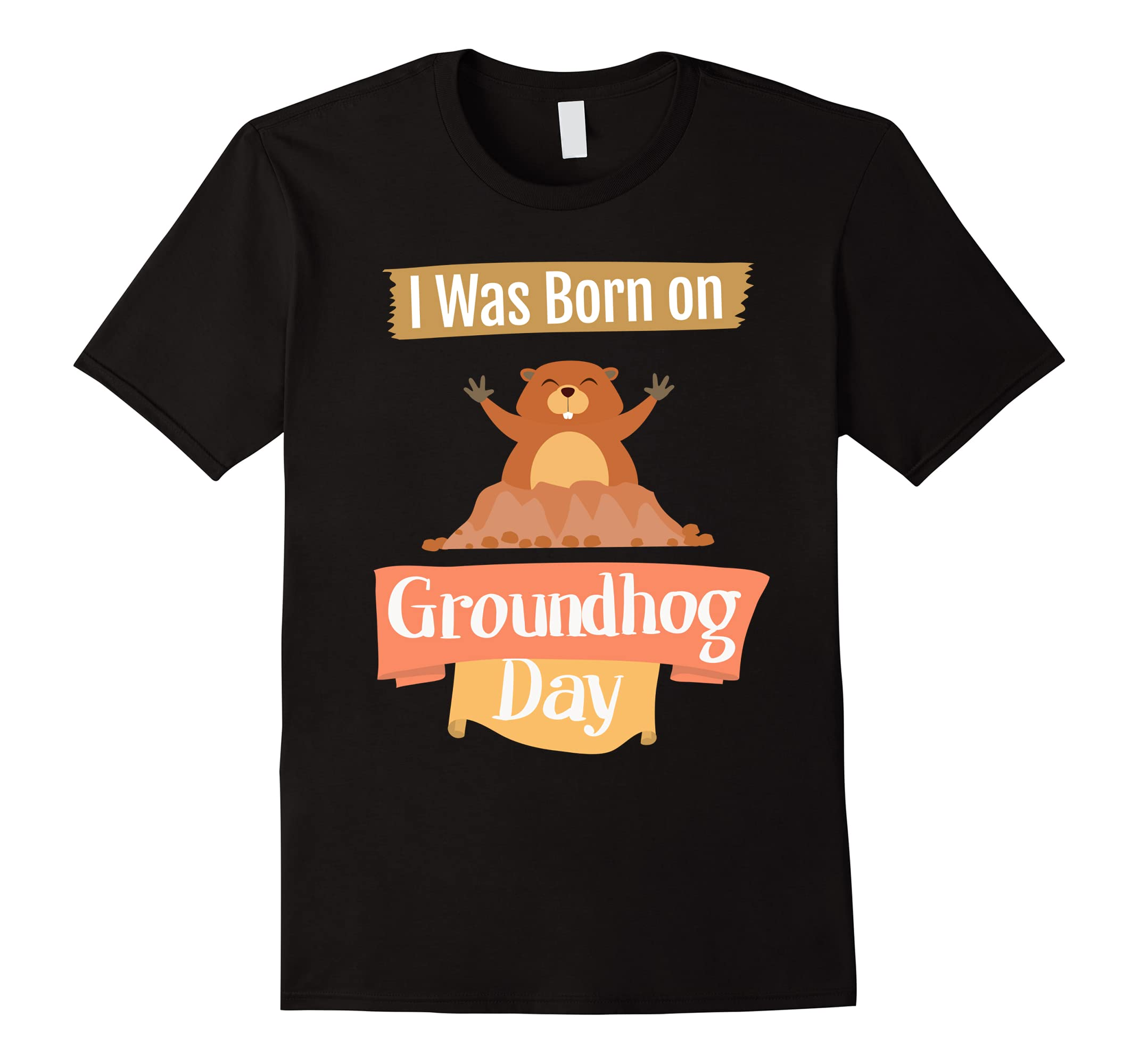 Happy Groundhog Day Shirt I Was Born 2nd Feb Spring Gift-RT