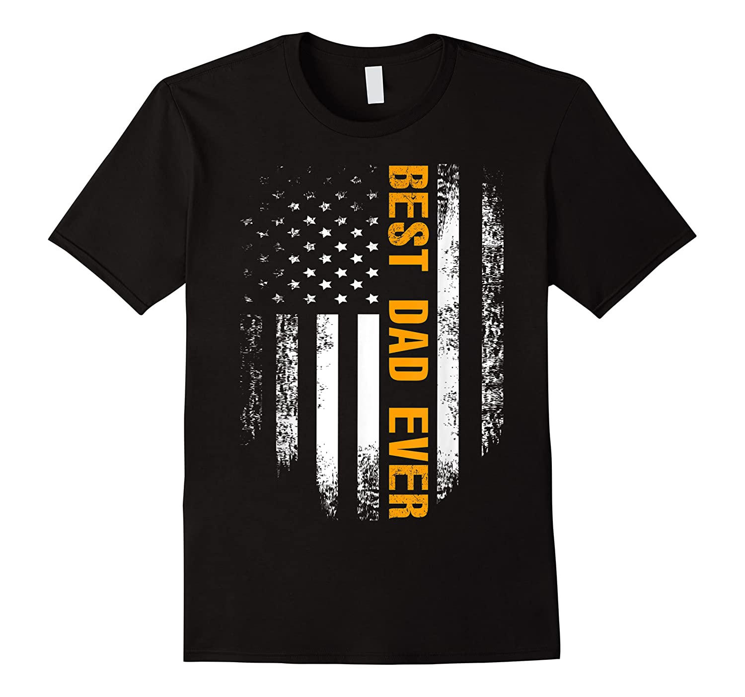 Vintage Best Dad Ever Shirt American Flag Father's Day Gift