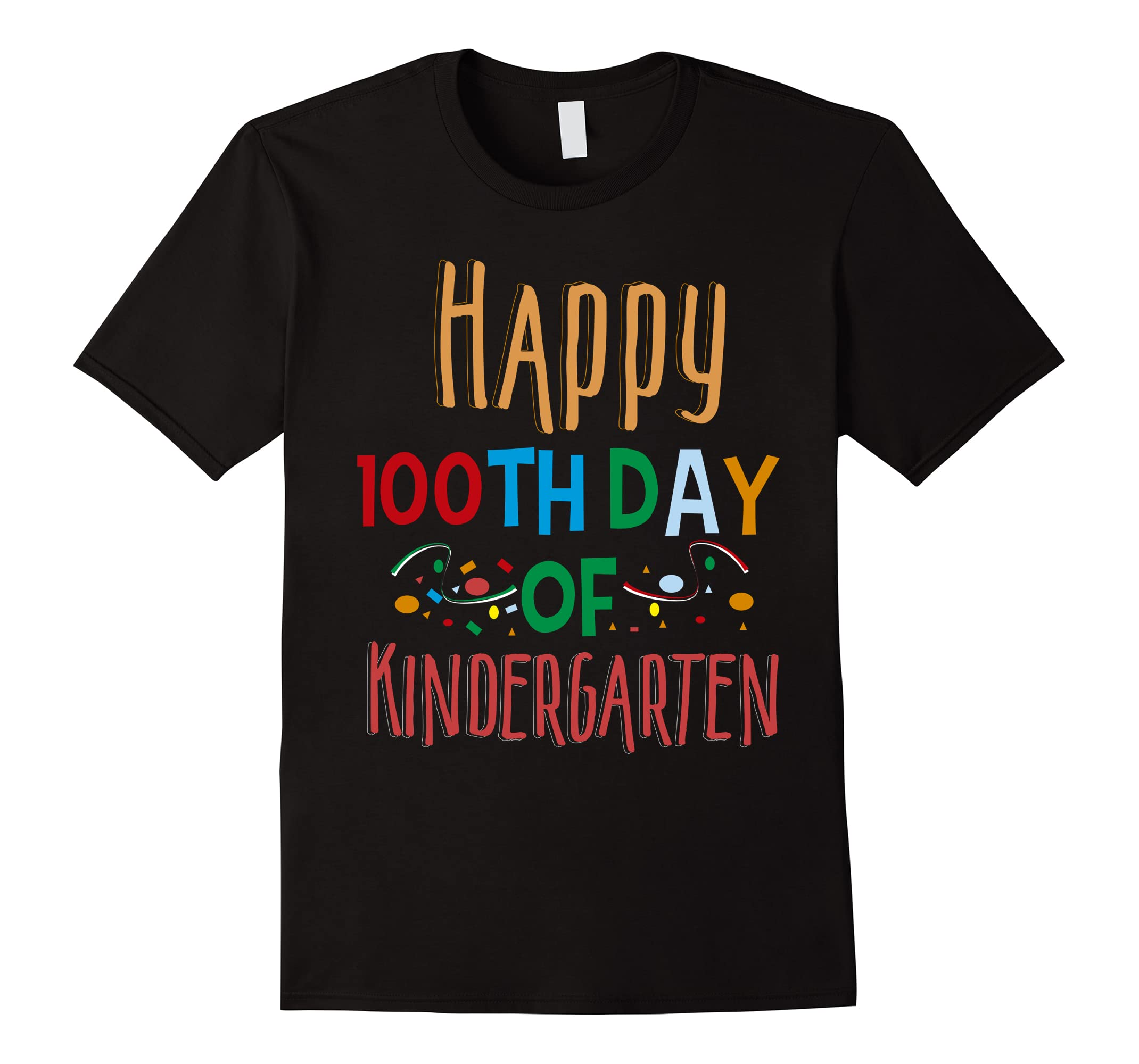 Adorable Happy 100th Day of Kindergarten Shirt for Teacher-RT