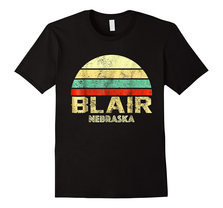 Blair Ne Nebraska Vintage Retro Sunset Tee T Shirt