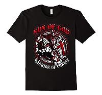 Knights Templar Tshirt Son Of God Warrior Of Christ Black