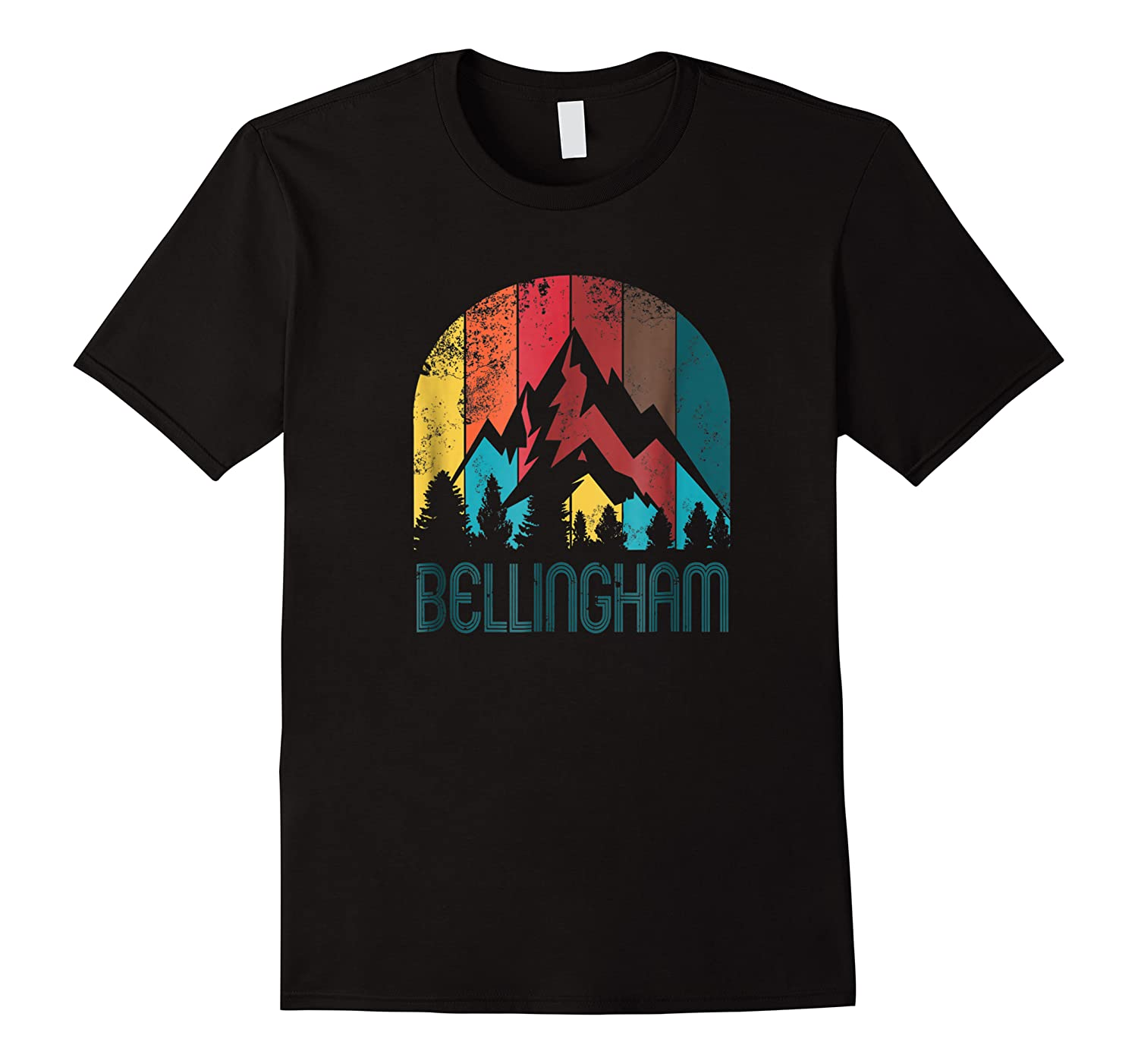 Retro City Of Bellingham T Shirt For And