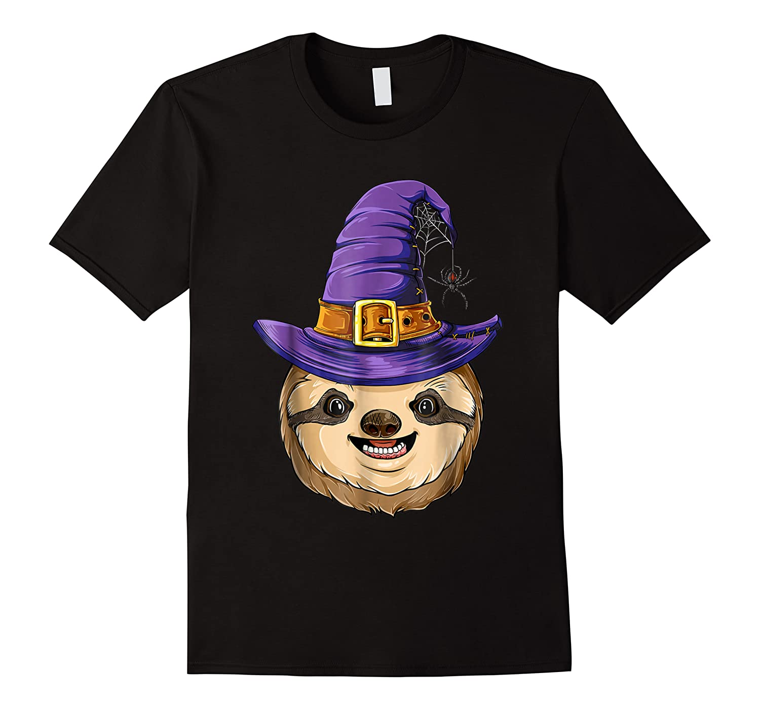 Sloth Witch T Shirt Halloween Girls Funny Costume