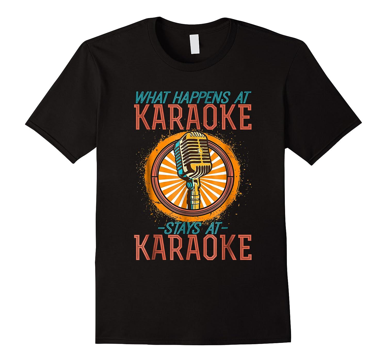 Karaoke Music Gifts Sing Music Bar Singer Vegas Style Mic Shirts