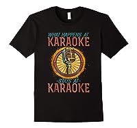 Karaoke Music Gifts Sing Music Bar Singer Vegas Style Mic Shirts Black