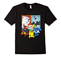 Alola Starters With Legendaries Shirts Black