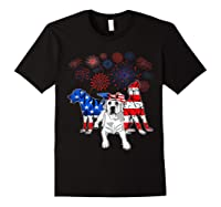 Labrador 4th Of July America Flag Gifts Shirts Black