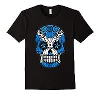 Scottish Flag Sugar Skull Shirts Black