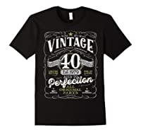 Vintage 40th Birthday Shirt, 1979, Aged To Perfection Black
