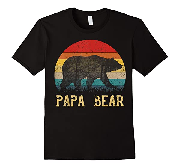 Vintage Papa Bear T Shirt Papa Father S Day Gift T Shirt