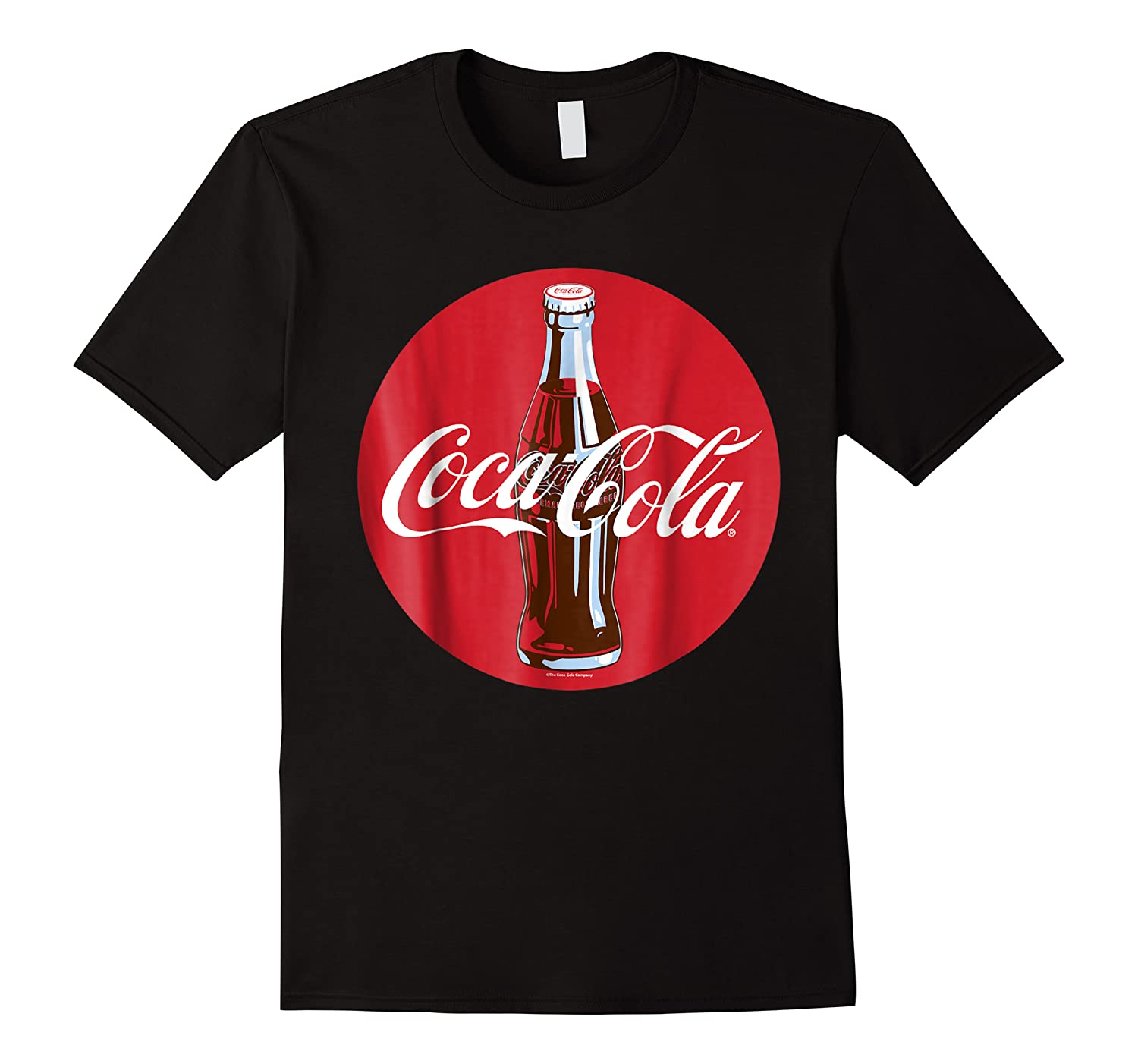 Coca Cola Glass Bottle Red Circle Logo Graphic Shirts