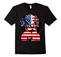 Funny Hovawart American Flag 4th Of July Shirts Black