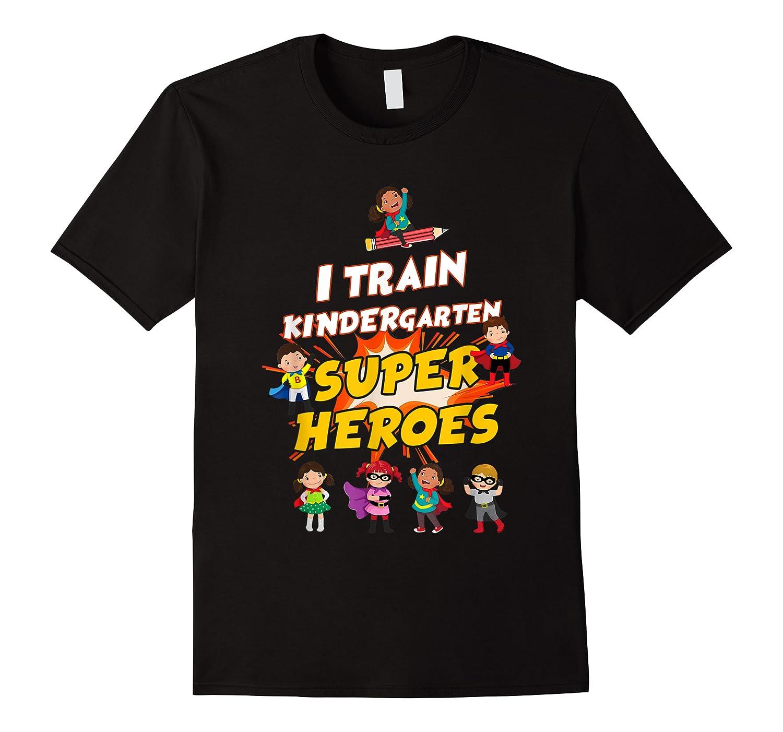 Train Kindergarten Super Heroes Gift For Tea Shirts