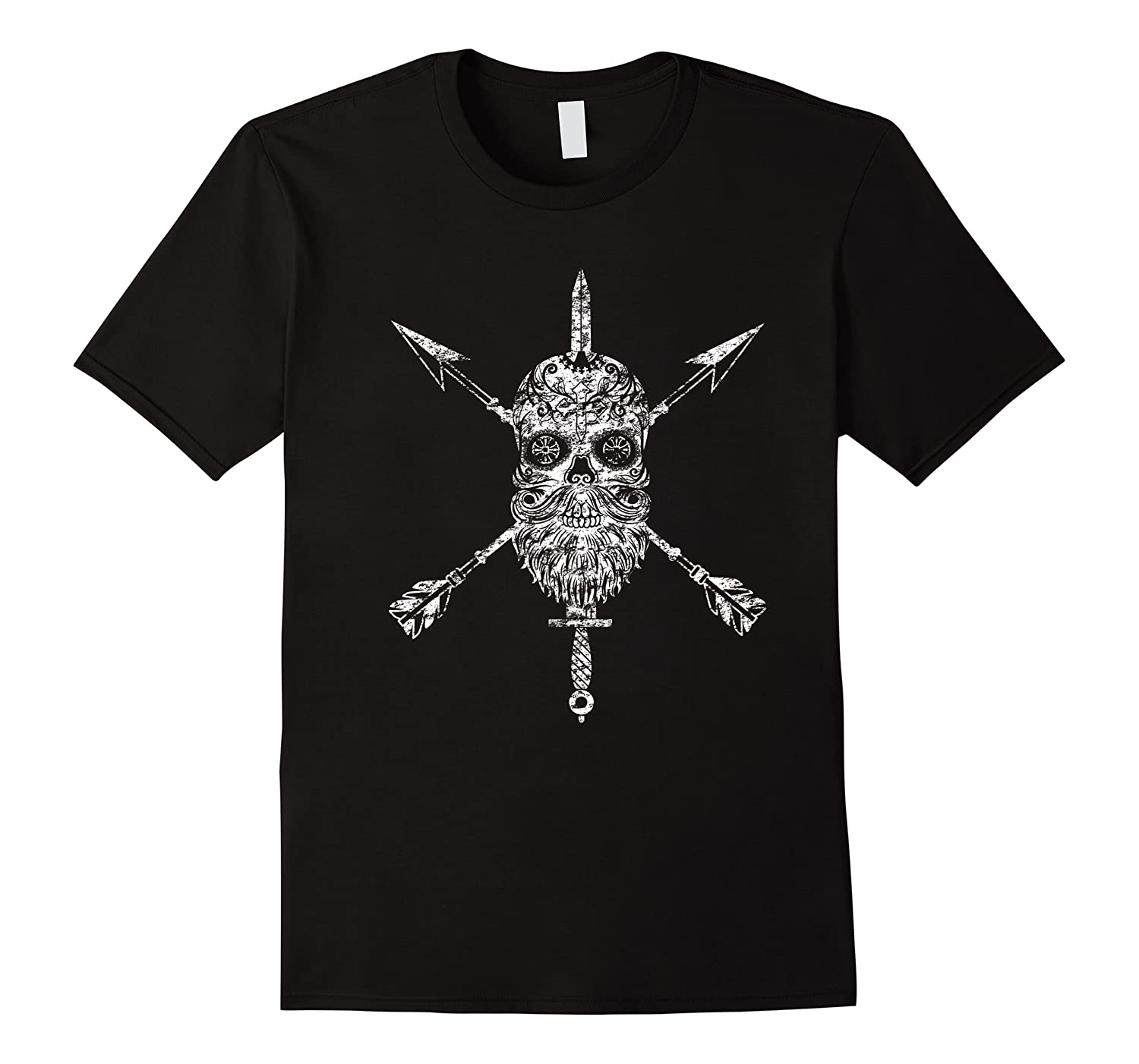 Vintage Sugar Skull Special Forces Military Tribute Design Shirts