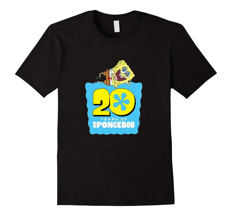 Spongebob Squarepants 20 Years Of Spongebob T-shirt Men Short Sleeve