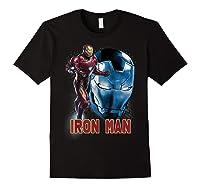 Avengers Endgame Iron Man Side Profile Graphic Shirts Black