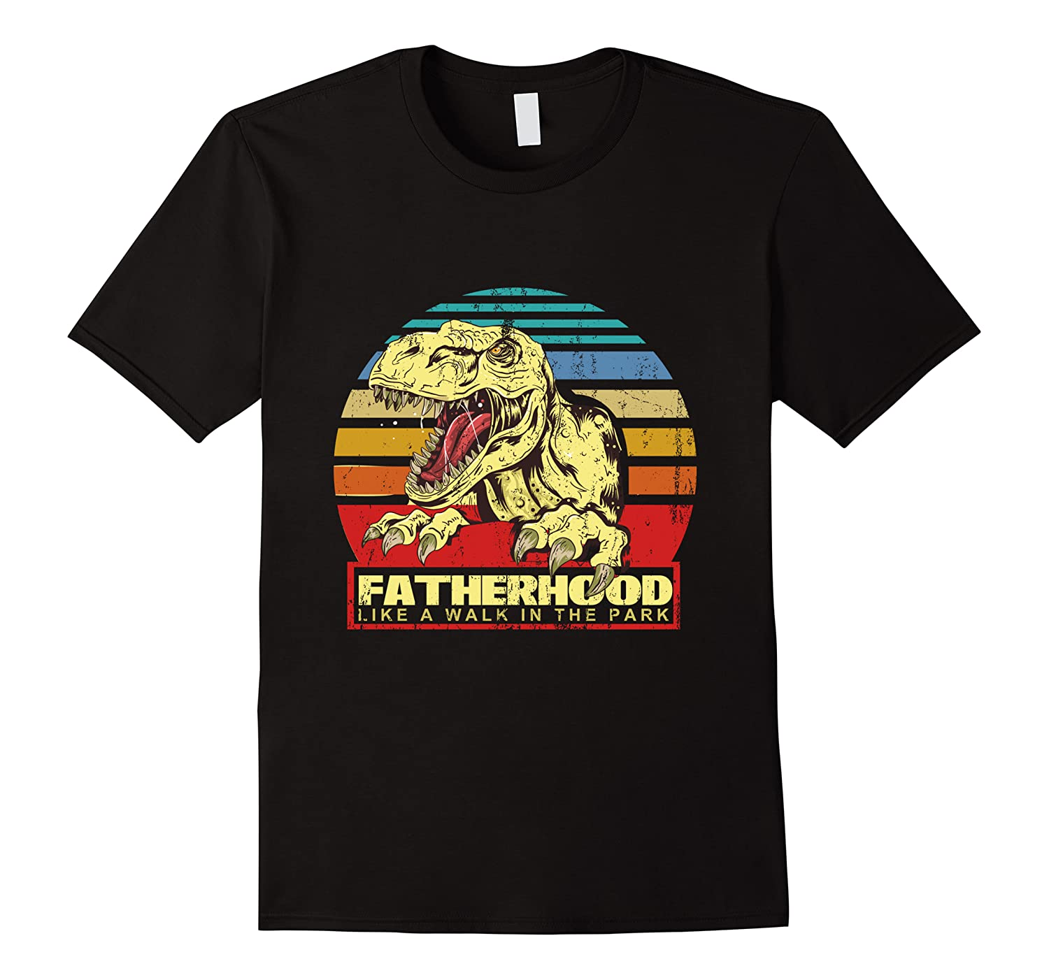 Fatherhood Like A Walk In The Park Father's Day Gif Shirts Men Short Sleeve