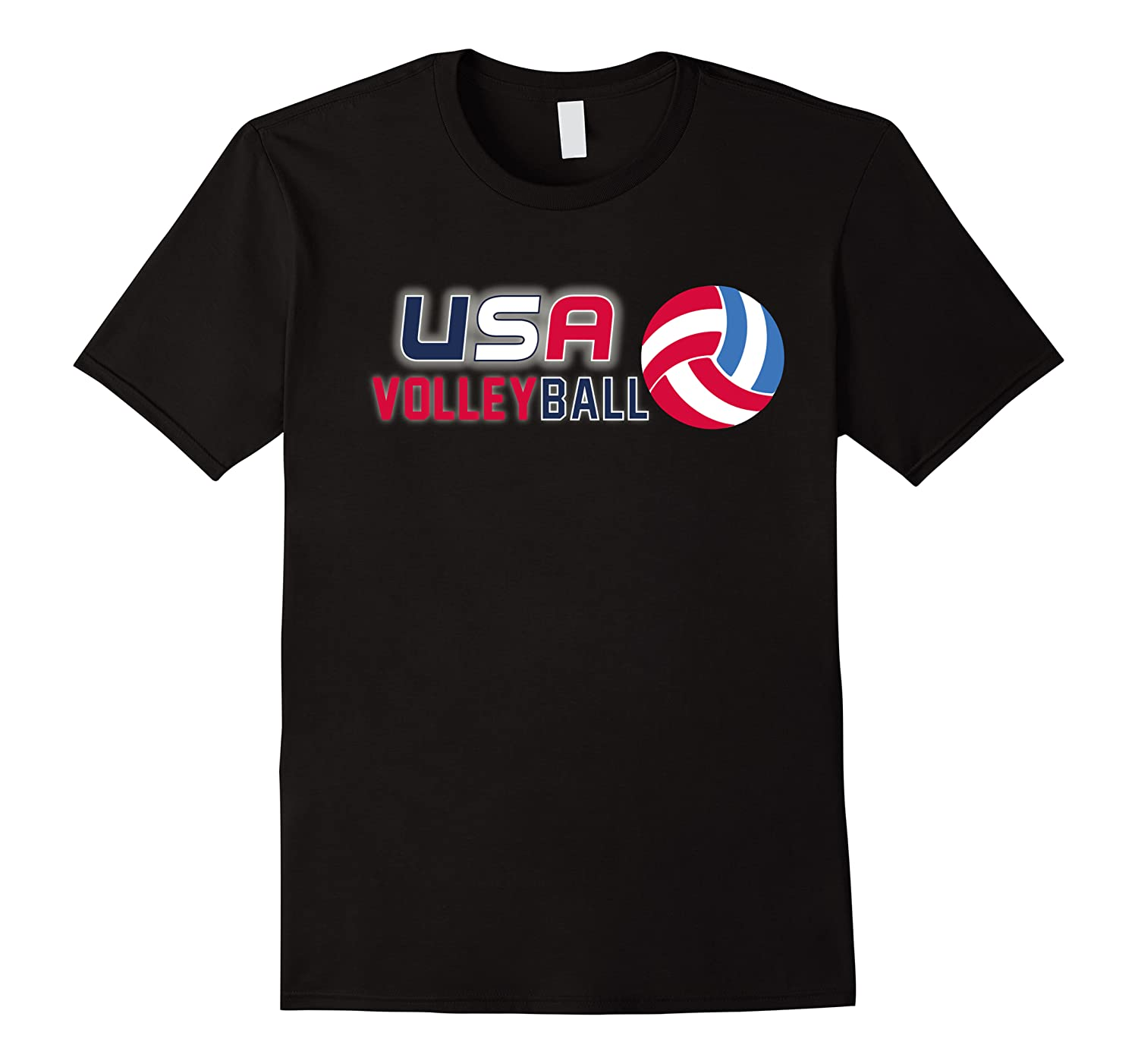 Usa And Volleyball For Athletes Shirts Men Short Sleeve