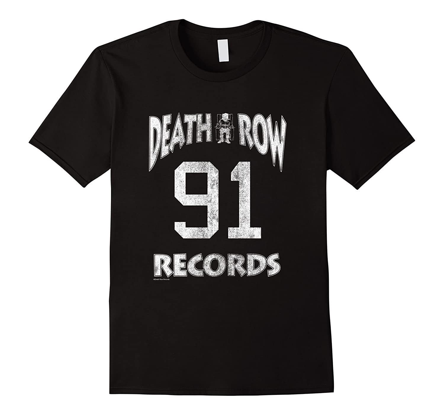 Death Row Records Athletic 91 Distressed T-shirt Men Short Sleeve