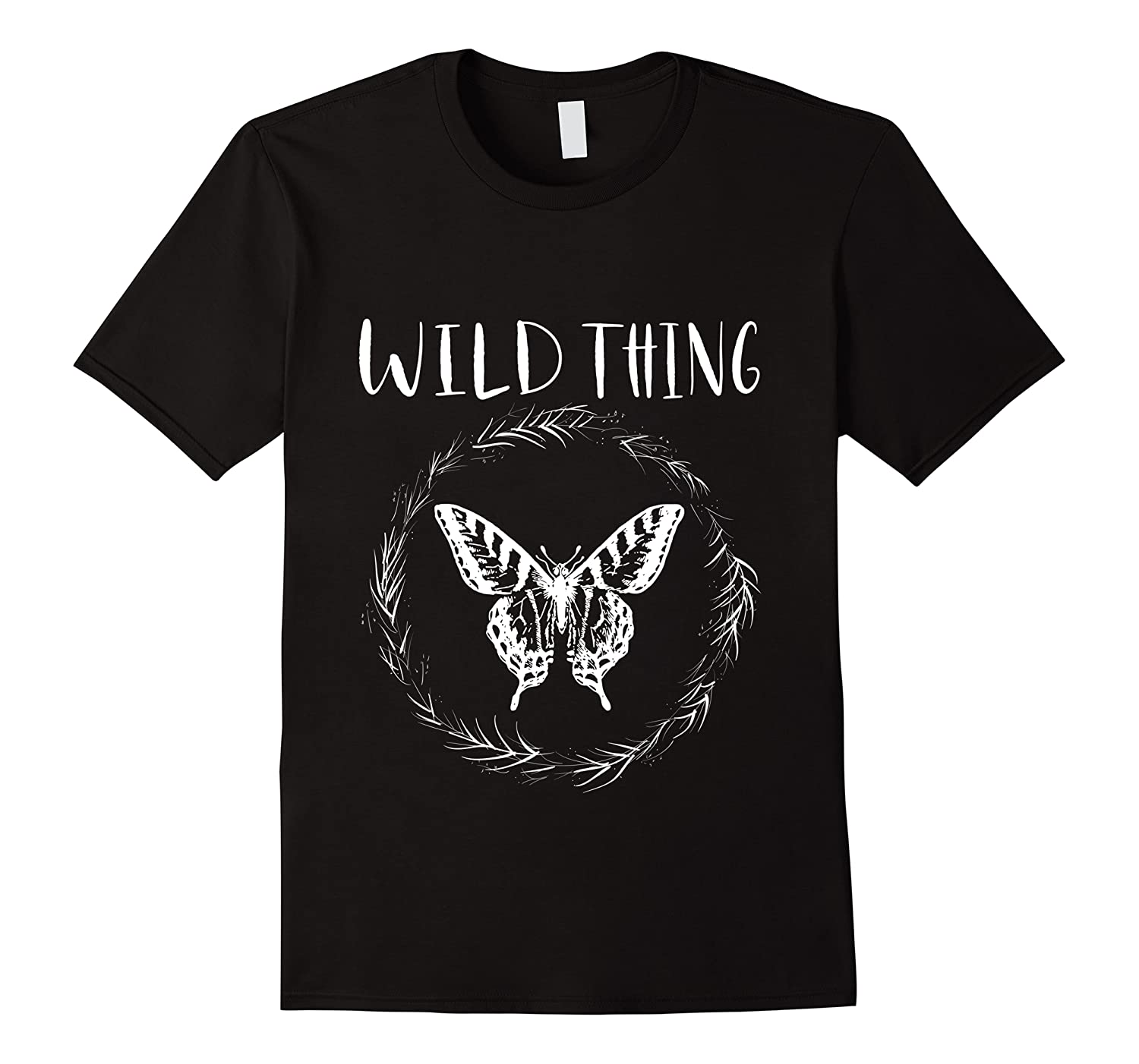 Wild Thing Butterfly Floral Wht Shirts Men Short Sleeve