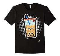 Boba Milk Tea Bubbles T-shirt Black