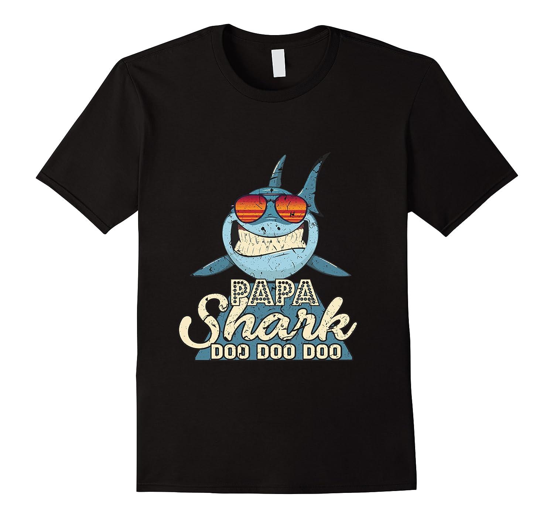 Papa Shark Doo Doo Funny Gift Dads Boss Man Shirts Men Short Sleeve