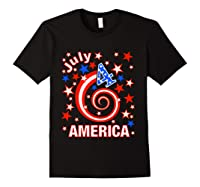 Festive 4th Of July, Independence Day Design Shirts Black