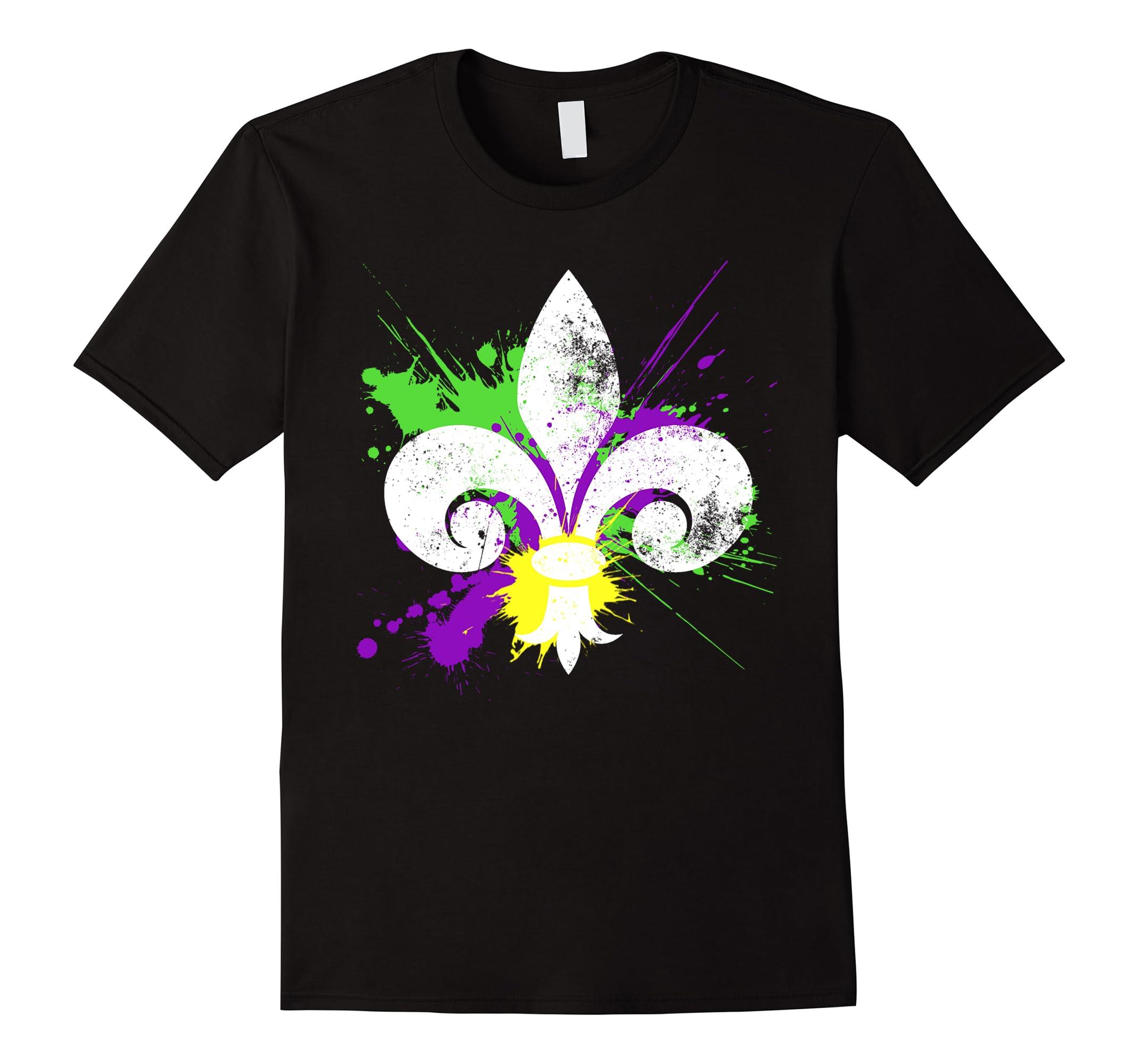 Fleur De Lis Mardi Gras Party Shirt - New Orleans Tshirt-RT