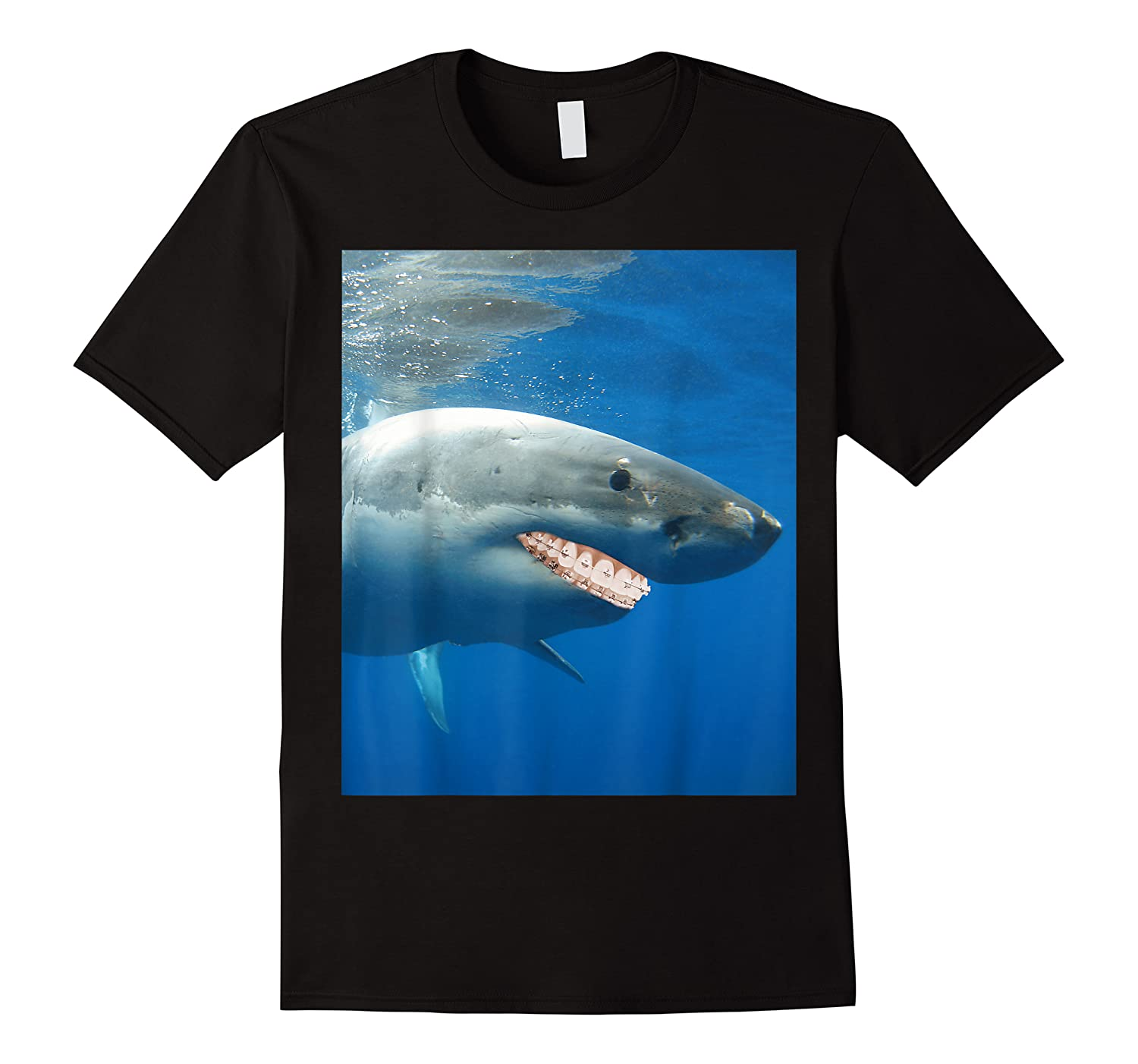 Great Shark With Braces And Human Th Shirts