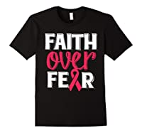 Faith Over R Breast Cancer Awareness Gift Shirts Black