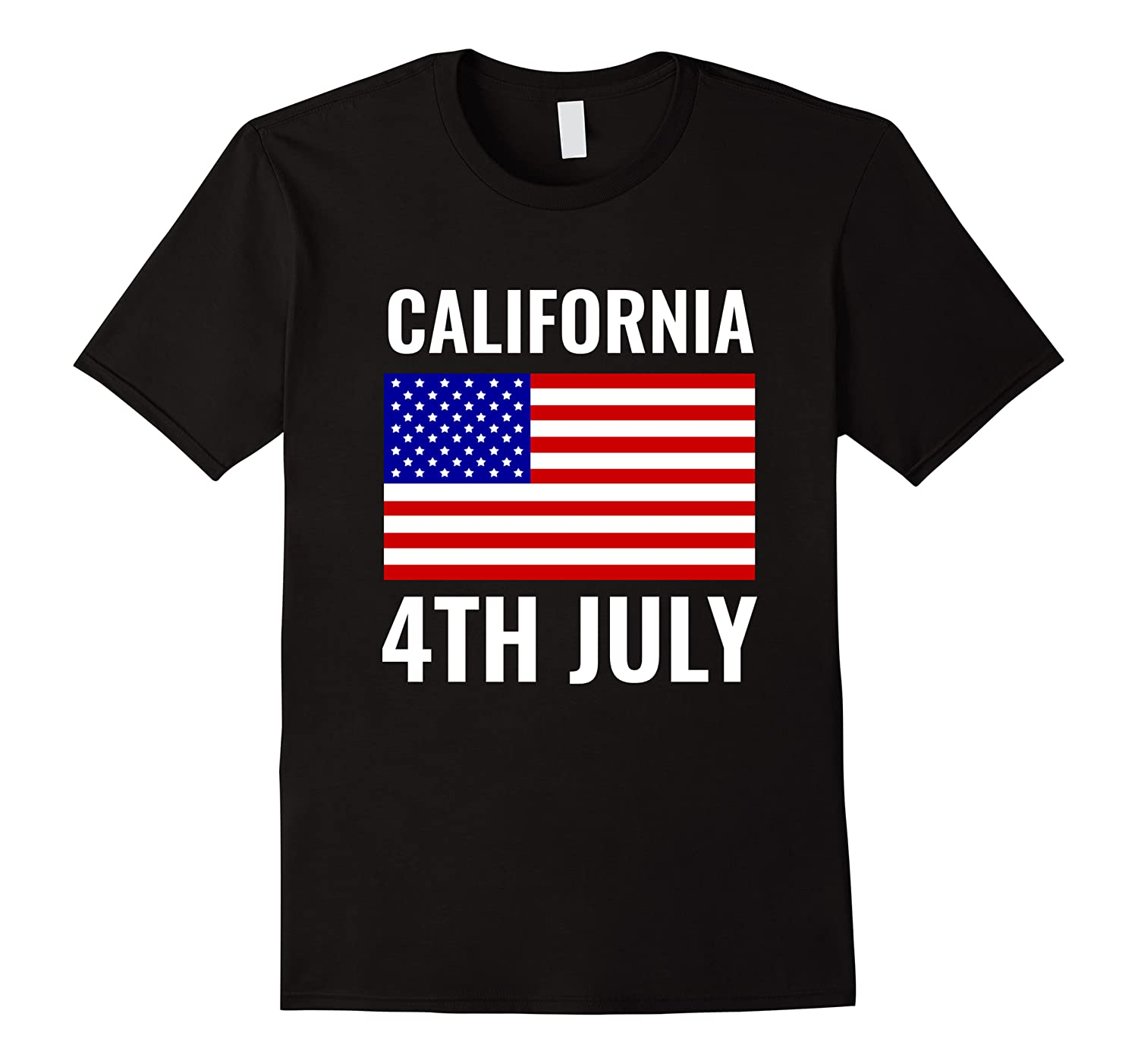 California Independence Day 4th July American Us Flag Gift Shirts Men Short Sleeve