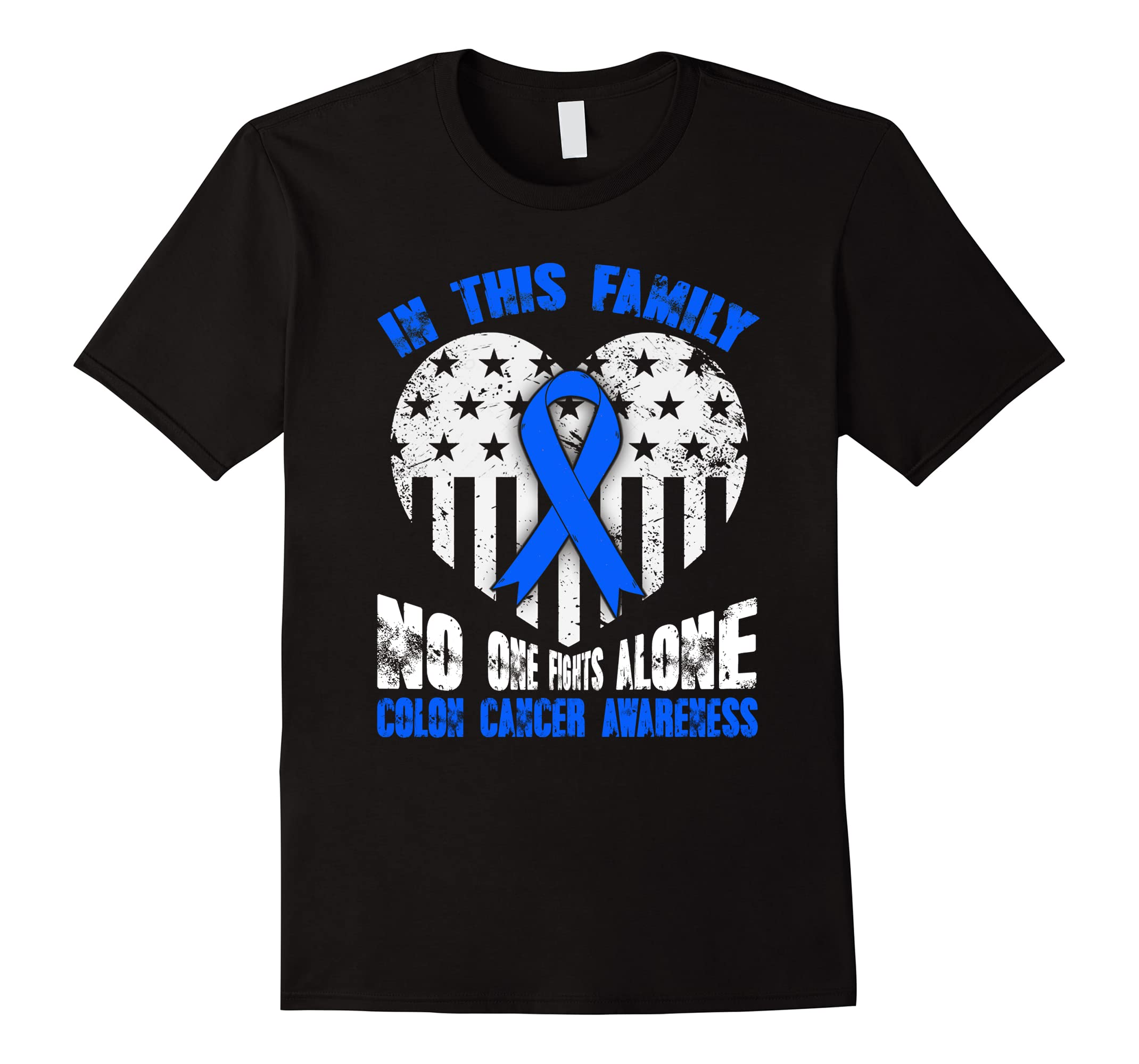 In this family no ones fights Colon Cancer alone t-shirt-RT