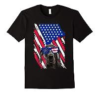 Vintage Great Dane Dog American Usa Flag Distressed Shirts Black