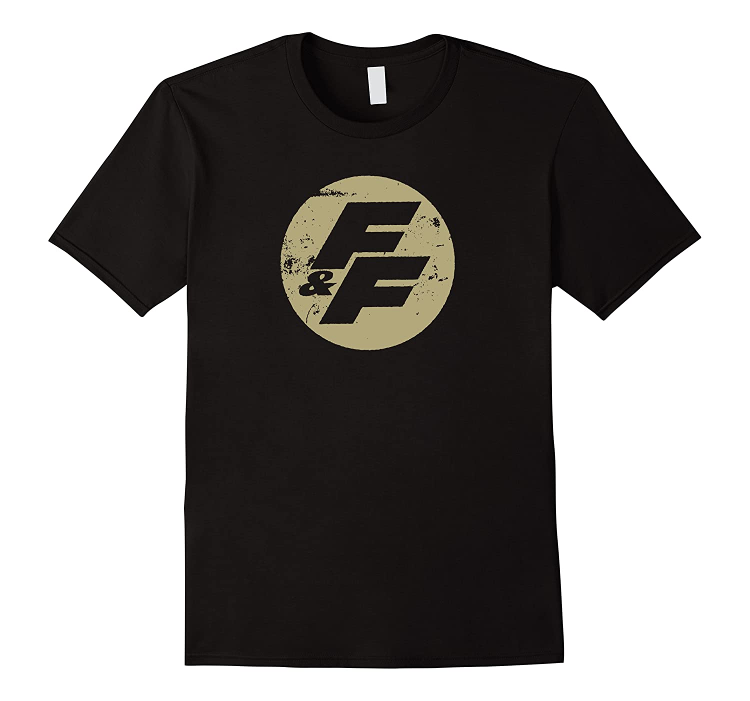 Fast Furious Distressed Beige Logo Ted Shirts Men Short Sleeve