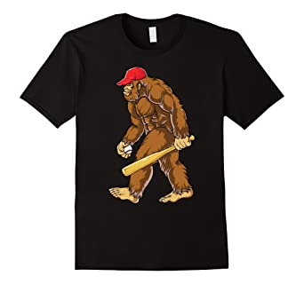561fa7bf0d16 Image Unavailable. Image not available for. Color: Bigfoot Sasquatch  Baseball T Shirt Funny Tees Sports Gifts