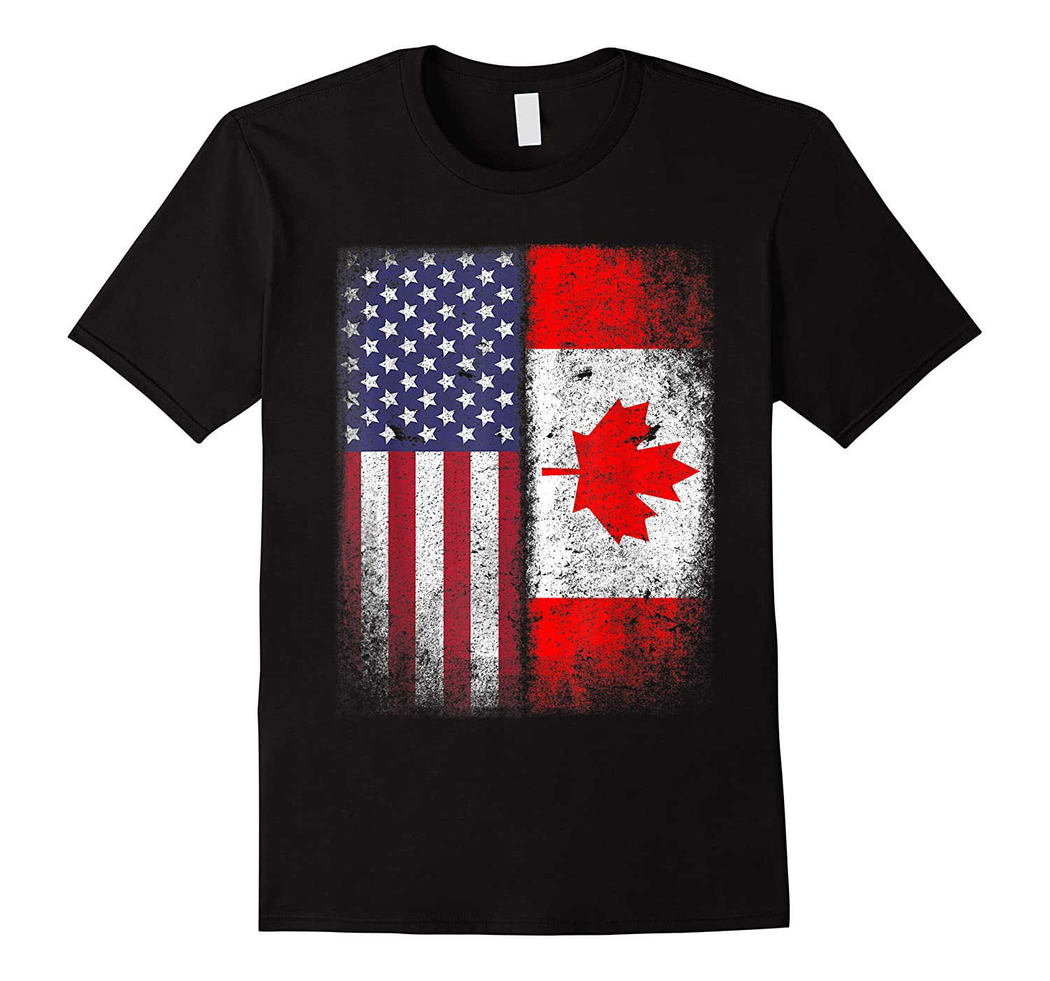 Canadian Roots American Grown Canada Usa Flag America Gift Shirts