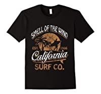 Retro Surf Shirt California Surfer Gift Cali Black