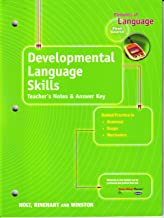 Elements of Language: Developmental Language Skills Teacher's Notes and Answer Key First Course
