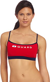 Speedo Women's Lifeguard Thin Strap One Piece Swimsuit with Built-in Bra